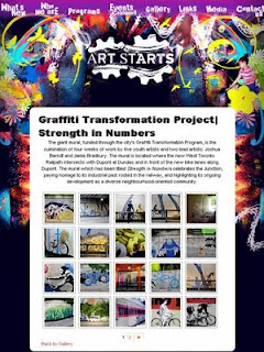 Screenshot: Art Starts: Graffiti Transformation Project: Strength in Numbers