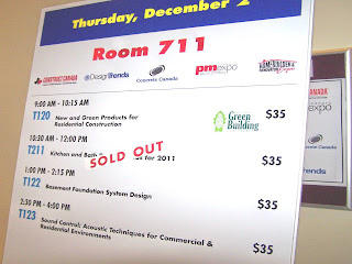 Kitchen & Bath Design Trends for 2011 Seminar Sold Out at HomeBuilder @ Renovator Expo, photo by Olga Goubar, wobuilt.com