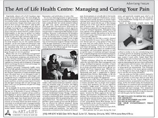 curing pain, therapy, RSWT, IFC, the art of life, health center, toronto