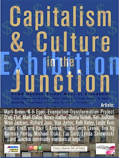 Capitalism & Culture in the West Toronto Junction, Exhibition, poster