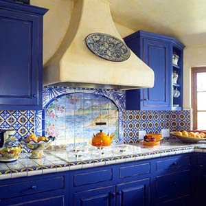 Blue Motif Kitchen