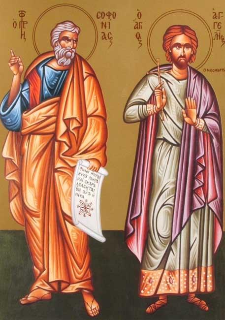 Ikon av profeten Sefanja og den hellige Angeles, som begge minnes den 3. desember