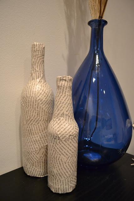 Декорирование бутылок папье маше