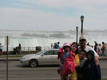 All wet at Niagra Falls