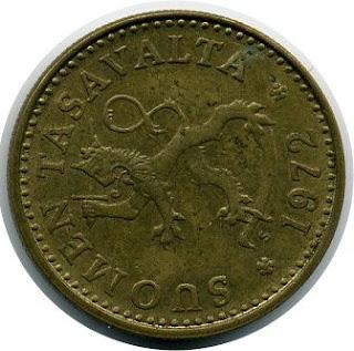 10 penniä Пенни  Финляндии Suomen Tasavalta Старинная Монета ancienne Pièce de la Finlande altertümliche Münze Finnlands Moneda antigua de Finlandia