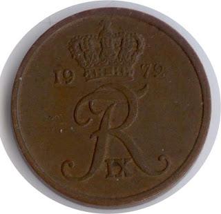 Kongeriget Danmark Ancient coin Kingdom 5 эре 1972 Дания altertümliche Münze des Königreiches Dinija moneda antigua del Reino Dinija ancienne pièce du Royaume de Dinija