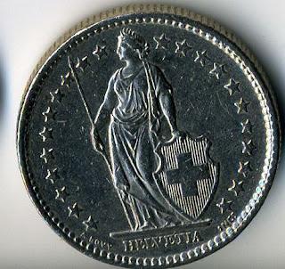 Швейцарский франк 1978 Swiss franc Schweizer Franken Francos suizos moneda Franc suisse pièce