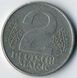 Coins Collection Numismatics Mark Deutsche Coins Münzen Monedas Немецкие монеты ГДР Марки altertümliche Münze Monedas antigua