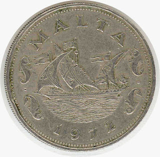 Numismatics malta coin galeas ship     moneda Galezza