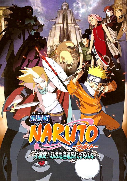 Naruto Shippuden  LAS RUINAS ILUSORIAS EN LO PROFUNDO DE LA TIERRA ONLINE COMPLETA   LATINO