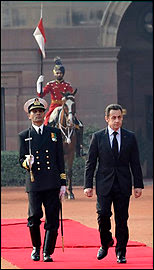 Sarkozy guard of honour India