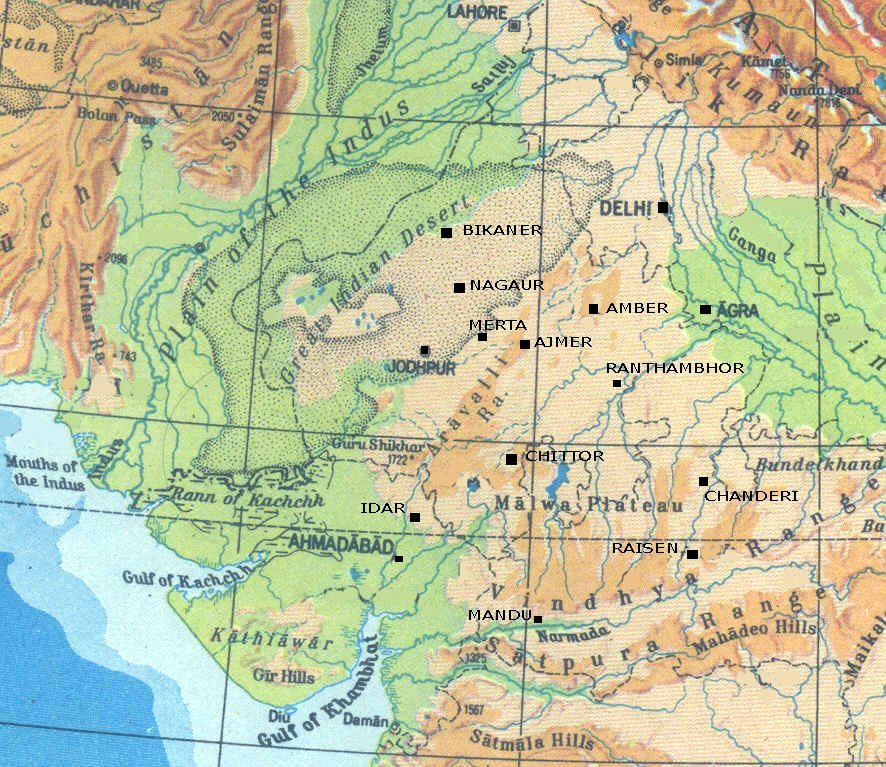 Mewar map under Maharanas