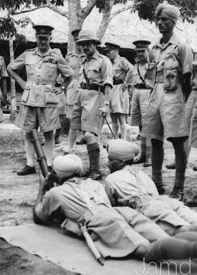 Wavell with Dogra troops