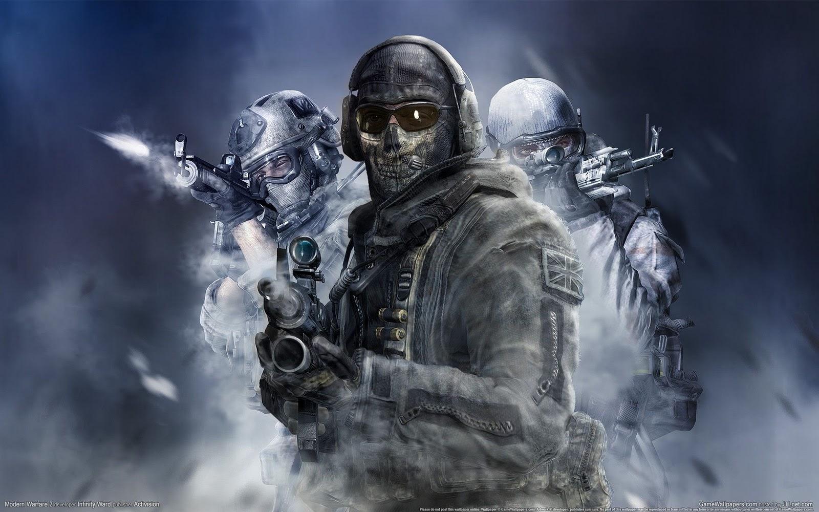 Ghost Call of Duty Modern Warfare 2   GAMES Wallpaper