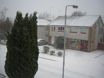 >BREAKING WEATHER NEWS: Heavy snow and strong winds bring low visibility and hazerdous driving across Scotland