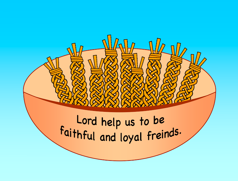 As part of this lesson the children will make wheat and a basket: title=