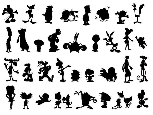 Silhouette Cartoon Characters