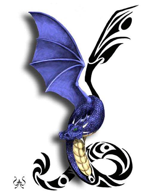 tribal dragon tattoo designs. I found the design online