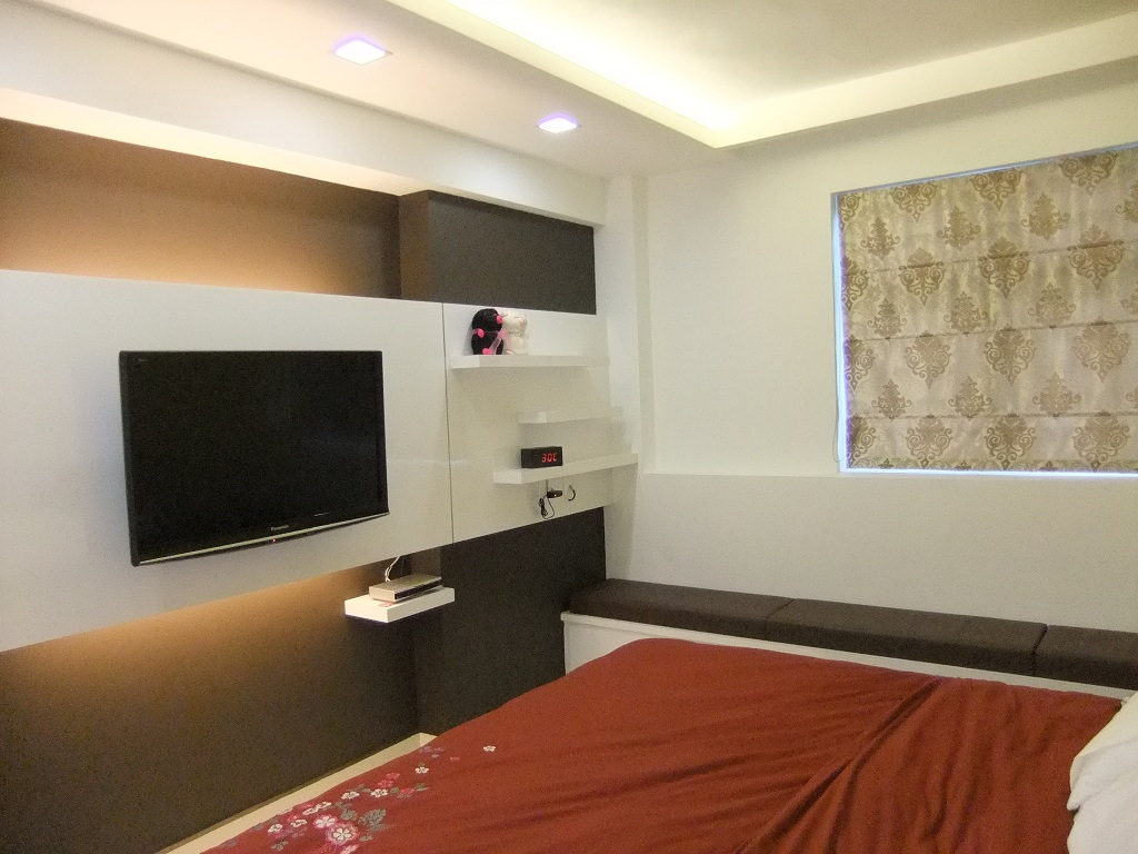 TV Feature Wall In Master Bedroom