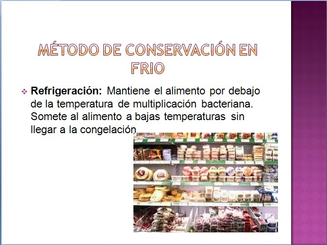 metodos de conservacion de alimentos. Metodos de Conservación de Alimentos