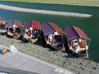 Excursion boats on the Nagara River
