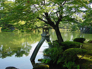 Kotojitoro Lantern, Kenrokuen, Kanazawa.