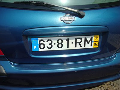 Portuguese Number Plates