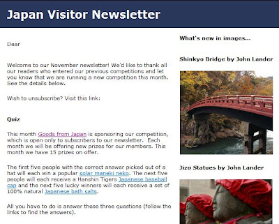 Japan Visitor November Newsletter