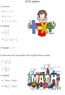 ALGEBRA WORKSHEET FOR SECONDARY LEVEL
