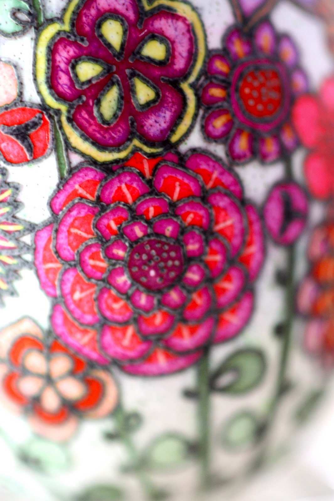 Contemporary Floral Pysanky in Bright Colors