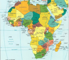 Kart over Afrika.