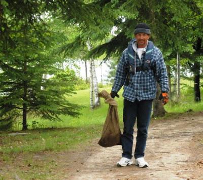 burlap bag or keep sack