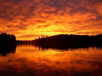 Sunrise at Red Lake, Ontario
