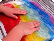 How to Make Rainbow Felt