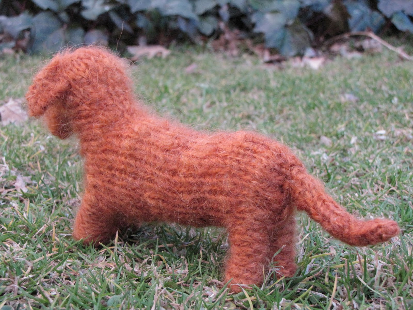 Knitted dachshund natural suburbia i have already started designing a pattern for a white woolf i am very excited about this have a great day bankloansurffo Gallery