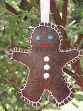 Felt Ginger Bread Man Christmas Craft Tutorial