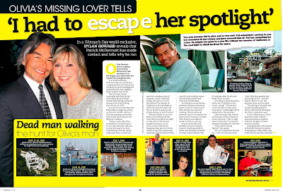 tabloid baby: Shocking details behind the message from Olivia Newton-John's missing boyfriend ...