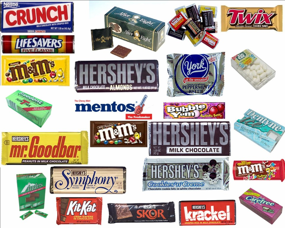 All Candy Bars List Candy bars pretty much all
