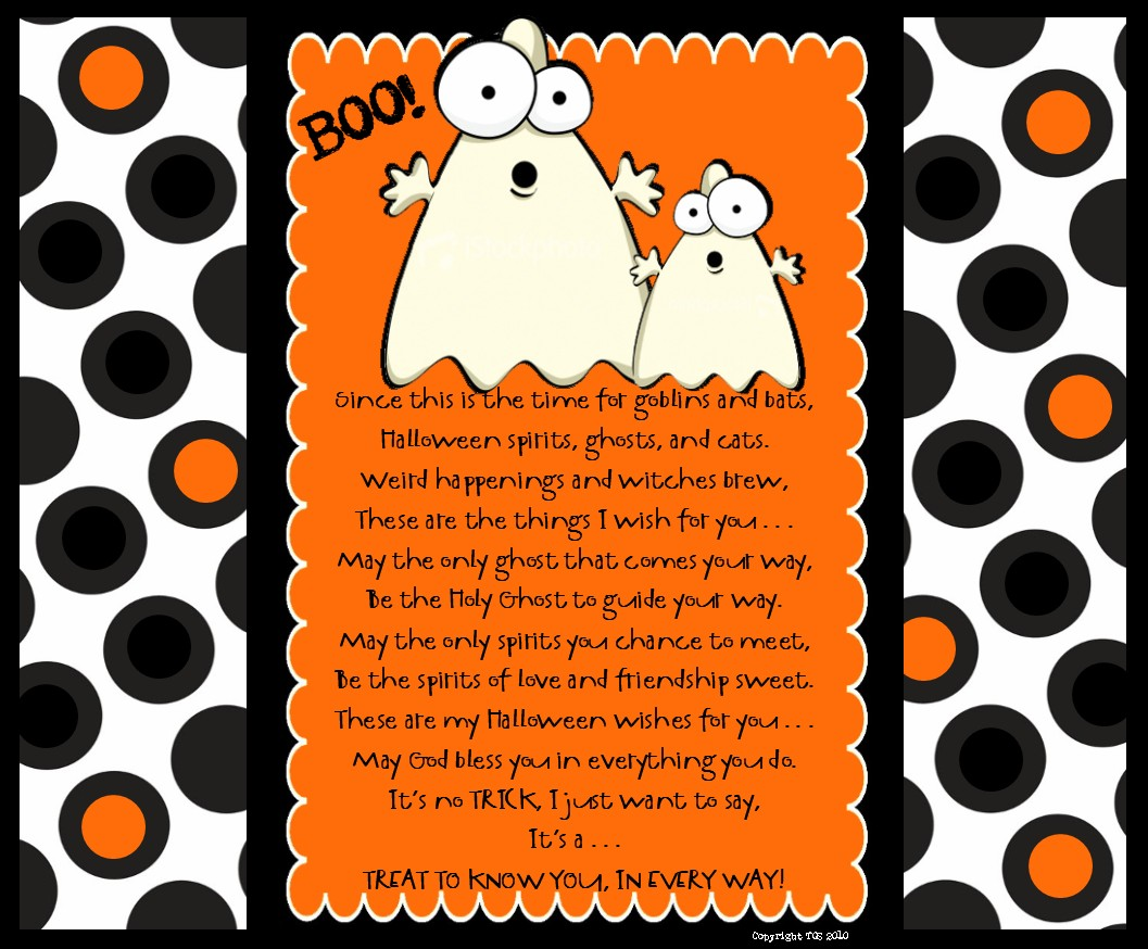 halloween poem for visiting and home teachers - Cute Halloween Poem