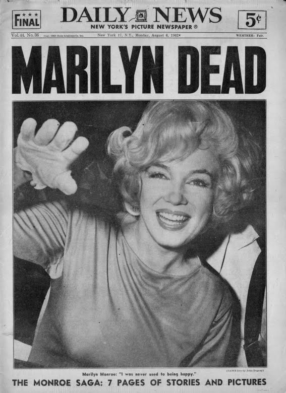 kennedy brothers and marilyn monroe. suicide of Marilyn Monroe