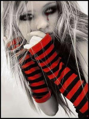 depressed emo girl. Silent depression