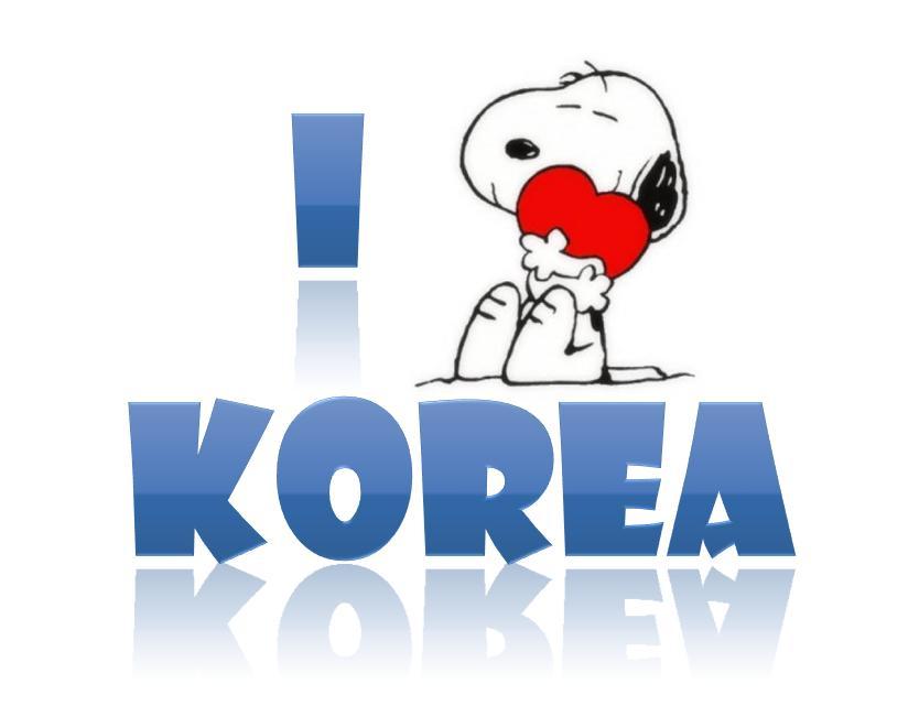 ★☆ Jisun Room ☆★  I+love+korea+snoopy