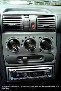 Teste Corsa Classic Life 2008 Interior Console central