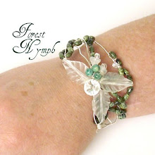 Jade wire-wrapped, handmade bracelet