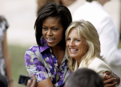 Michelle Obama and Jill Biden, Springfield, Illinois, 23 Aug 2008