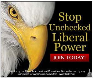 Republican ad with an eagle