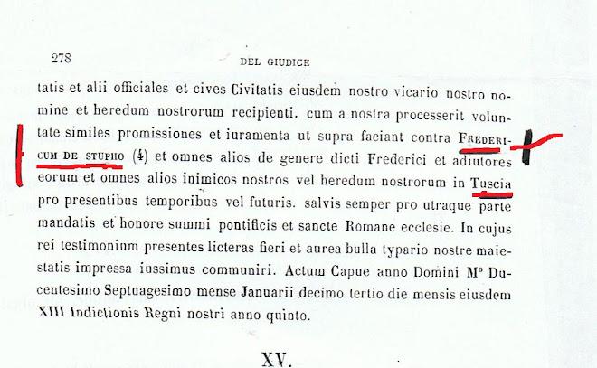 Fridericus , dictus de Stupho, frater  Carloti, Nepos Regis Anglorum ,Rex Tusciae