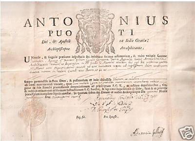 il Principe Antonio Puoti di CastelPoto Arcivescovo