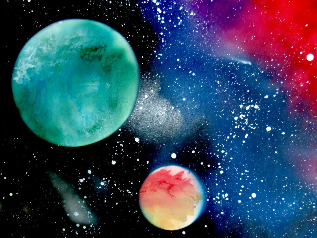 How To Spray Paint A Space Scene