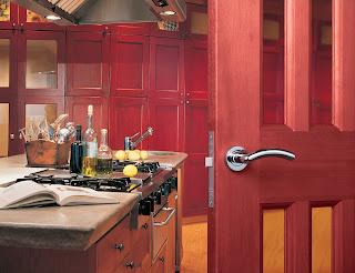 EUROSPEC NOXIA DESIGNER DOOR HANDLE ON ROSE ZIN3003